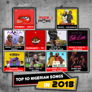 Top 10 Nigerian songs for 2018 | Moremusic ng